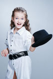 Young girl at studio Stock Images