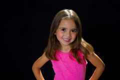 Young girl in studio smiling Stock Image