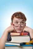 Young girl studying Stock Photography