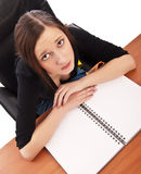Young girl studying Stock Image