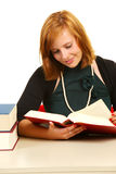Young girl studying for exams. Stock Photo