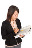 Young Girl Studying Her Science Book Stock Photo