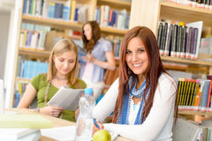Young girl studying at high school Stock Images