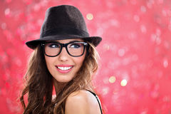 Young girl in stylish dressed Stock Image