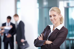Young girl successful Stock Image