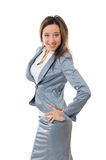Young girl in suit Royalty Free Stock Photography