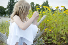 Young girl in summer Stock Photography