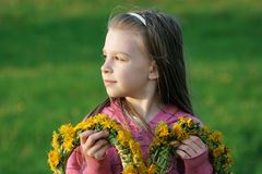 Young girl in summer day. Royalty Free Stock Image