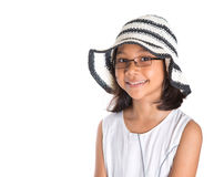 Young Girl With Summer Hat Royalty Free Stock Images