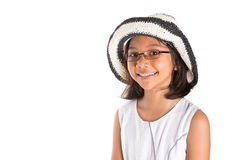Young Girl With Summer Hat II Stock Photos