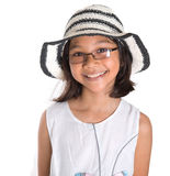 Young Girl With Summer Hat IV Royalty Free Stock Photo
