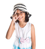 Young Girl With Summer Hat V Royalty Free Stock Image