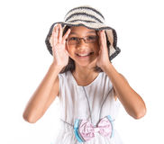 Young Girl With Summer Hat VI Stock Photography
