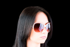 Young girl with sunglasses Stock Photos