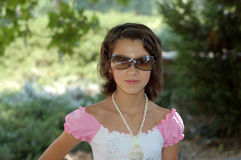 Young Girl with Sunglasses Royalty Free Stock Photo