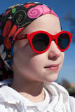 Young girl in sunglasses Stock Photography