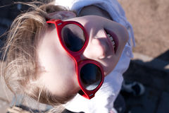 Young girl in sunglasses Royalty Free Stock Photo