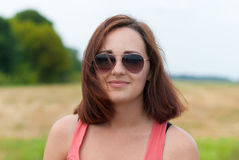 Young girl with sunglasses . Royalty Free Stock Photo