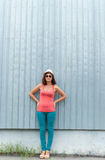 Young girl with sunglasses outdoors. Royalty Free Stock Photos