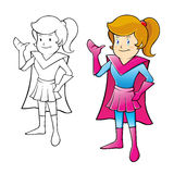 Young Girl Super Hero Stock Photography