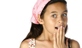 Young girl, surprise Stock Photos