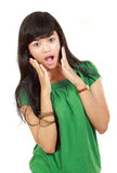 Young girl surprised Stock Photography
