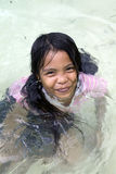 Philippines - Young Girl Swimming Royalty Free Stock Image