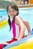 Young Girl in Swimming Pool Stock Photos