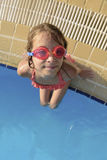 Young Girl at Swimming Pool Looking at Camera Royalty Free Stock Image