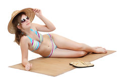 Young girl in swimsuit. Royalty Free Stock Photography
