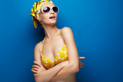 Young girl in swimsuit Stock Photos