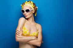 Young girl in swimsuit Stock Image