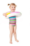 Young girl in swimsuits Stock Photo