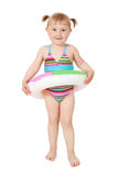 Young girl in swimsuits Stock Photos