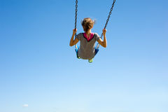 Young Girl on Swing Stock Photos
