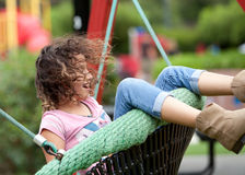 Young girl on a swing Stock Photography