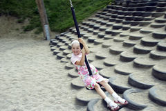 Young girl swinging 02 Stock Image