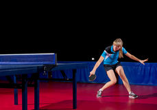 Young girl table tennis player Stock Photo