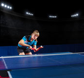 Young girl table tennis player Stock Photography