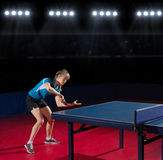 Young girl table tennis player Royalty Free Stock Photos