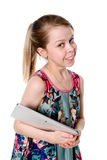 Young girl with tablet computer Stock Photo
