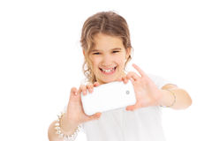 Young girl taking photo Royalty Free Stock Photo