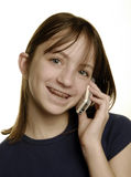 Young Girl Talking on Cellphone Royalty Free Stock Images