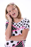 Young Girl Talking on Phone Royalty Free Stock Photography