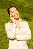 Young girl talking on the phone Royalty Free Stock Image