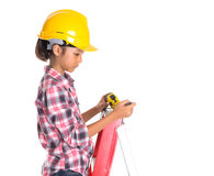 Young Girl With Tape Measure VI Royalty Free Stock Photography