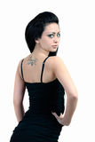 Young girl. The girl with a tattoo poses royalty free stock photo