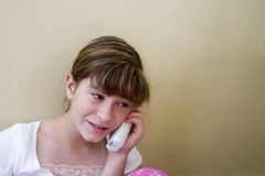 Young girl on the telephone Stock Photography