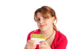 Young girl texting Royalty Free Stock Images