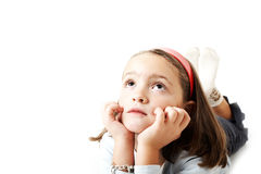 Young girl thinking Royalty Free Stock Photos